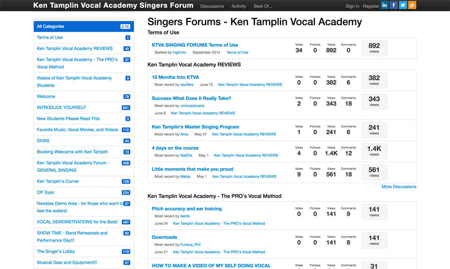 Ken Tamplin Vocal Academy Singer Forum